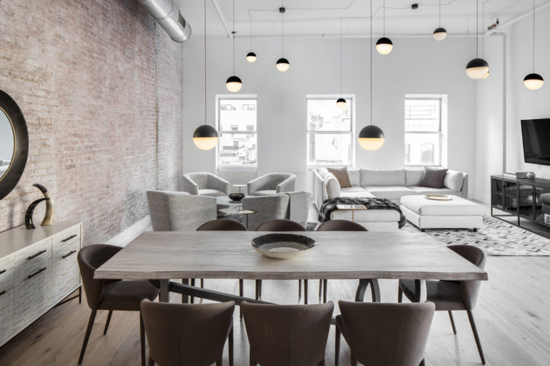 Industrial Loft Furniture. This Modern Industrial Loft Is Decorated In Calm  And Peaceful Shades Like