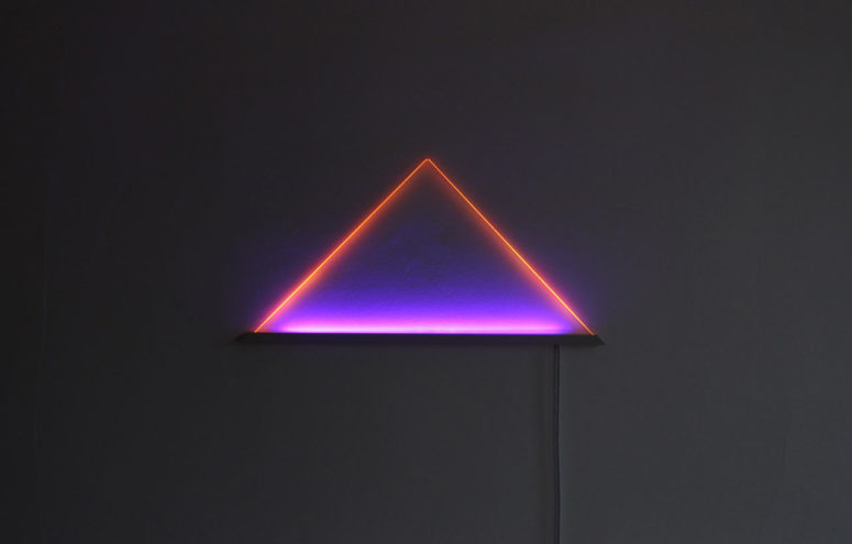 Ultraviolet LED Light Sculpture For Modern Spaces