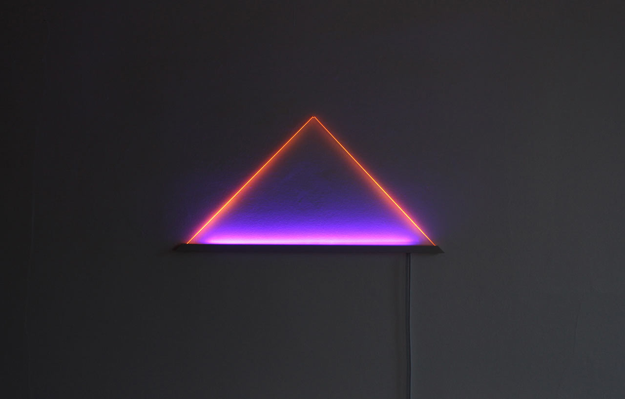 UV light is a graphic, angular sculpture by TJOKEEFE, which will easily become a focal point in any room