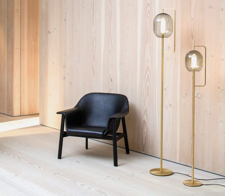 The Lantern Light is available in table and floor versions and the floor version has two different heights
