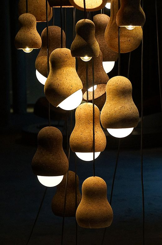 a combo of adorable pendant cork lamps will catch an eye in any room