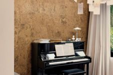 02 a cork covered wall is ideal for sound proofing, so you won't disturb anyone