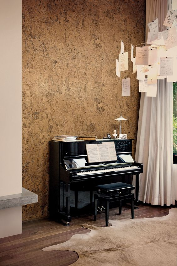 a cork covered wall is ideal for sound proofing, so you won't disturb anyone
