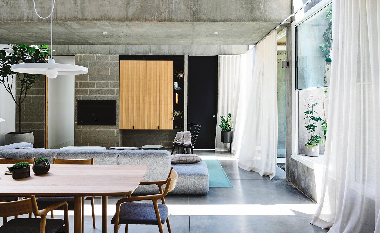 concrete decor idea
