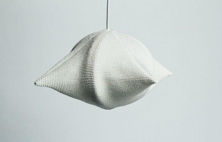 Shibori lamp created through the traditional textile technique used in kimono cloths