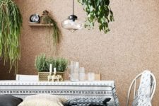 03 a cork covered wall looks cool and textural, besides it's great for sound-proofing