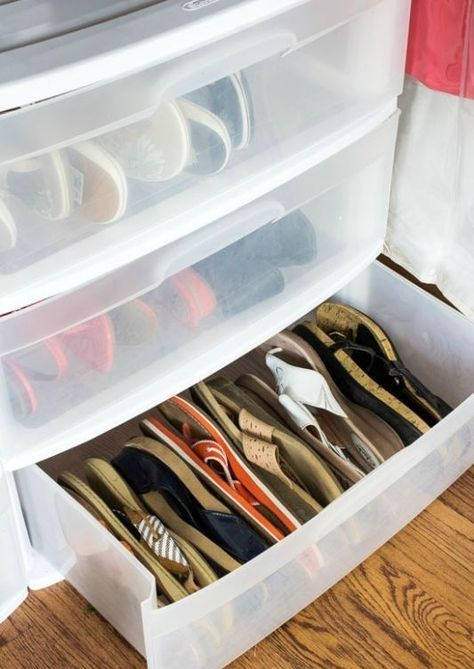 plastic containers like that good to storeg shoes, and you can see what's inside