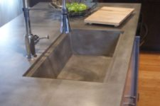 03 sink and countertop of a piece of concrete for the kitchen