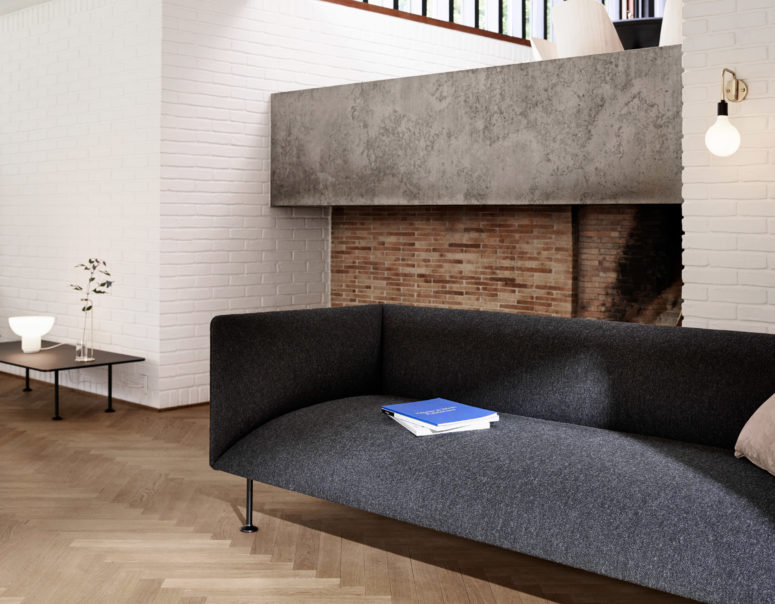 Look at this modern and minimalist sofa, nothing excessive, perfect shape