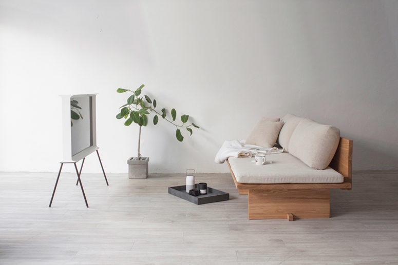 korean furniture design. The Seat Is Made Of A Solid Piece Wood, And Pillows Can Be Korean Furniture Design F