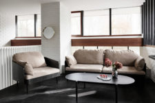 05 This sofa and chair were inspired by the tailor shop memories of the designer