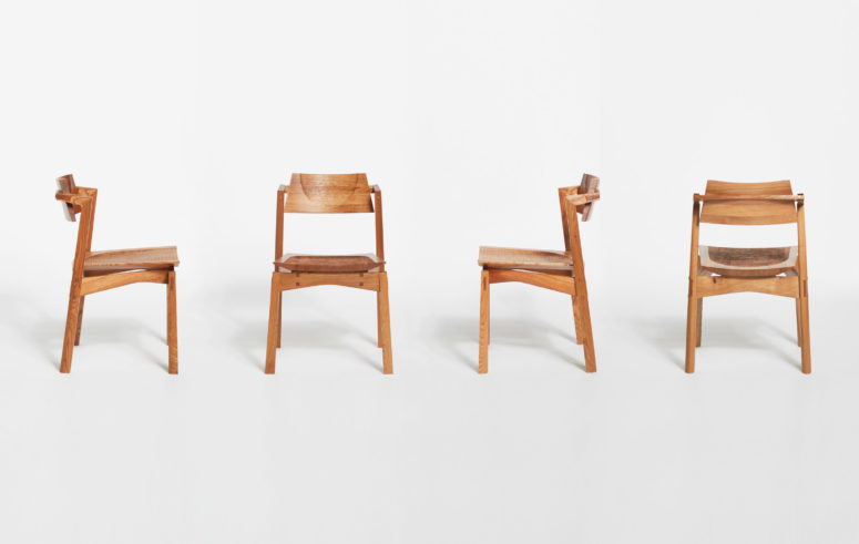 Though Made In European Wood, The Chairs Are Inspired By Japanese Furniture