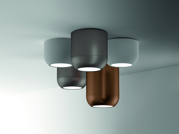 Urban lamps are attached to the ceiling, which is essential for spaces with low ceilings