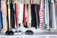 05 plastic boxes for shoes will keep them clearly seen, declutter your closet and they will take less floor space