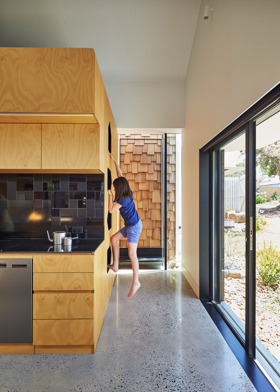 Most of spaces are adapted to the kids' needs, which was a requirement of the clients
