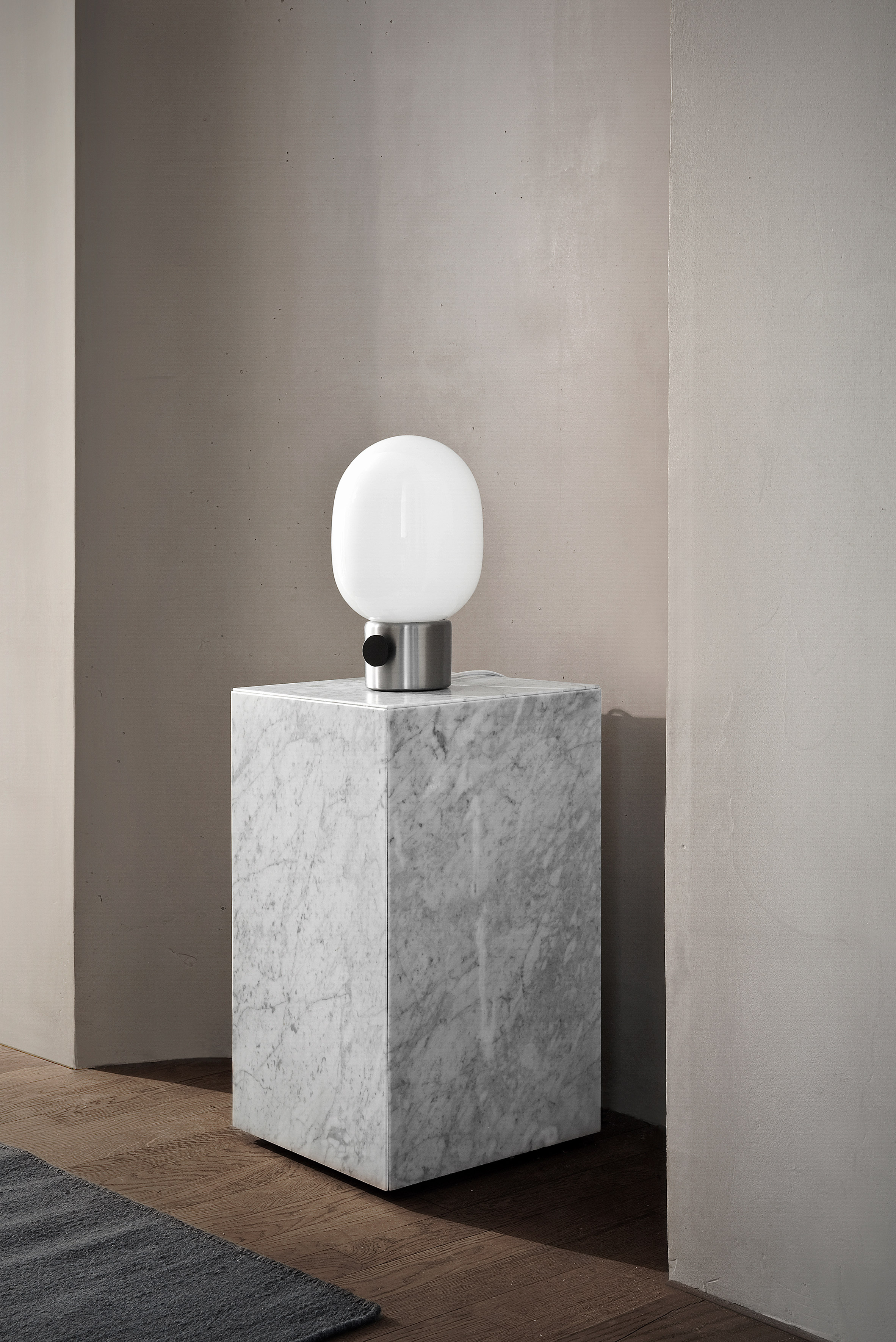 This minimalist lamp is not only a design but also a sculpture