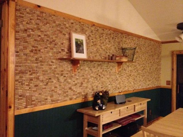 a wine cork wall can be installed by you anywhere you want and it won't cost a pretty penny