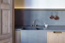 06 concrete sink and countertops that echo with each other