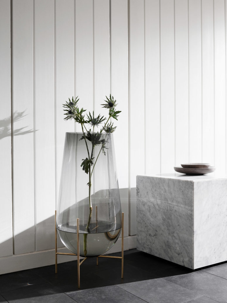 This stunning oversized vase will become a focal point in your room