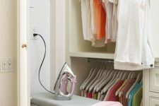 07 built-in ironing board with an outlet in the wall