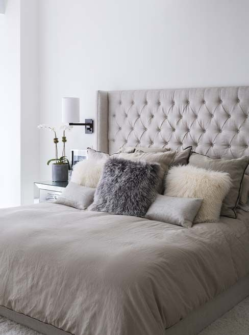 Gray Throw Pillows For Bed : 30 Timeless Taupe Home Decor Ideas - DigsDigs
