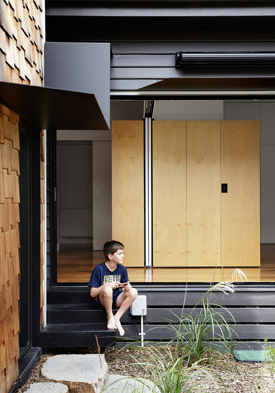 The house is rather opened to outdoors so that the kids and adults could enjoy fresh air and sunlight