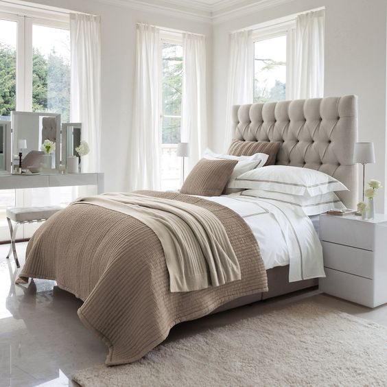 30 timeless taupe home d cor ideas digsdigs Modern chic master bedroom