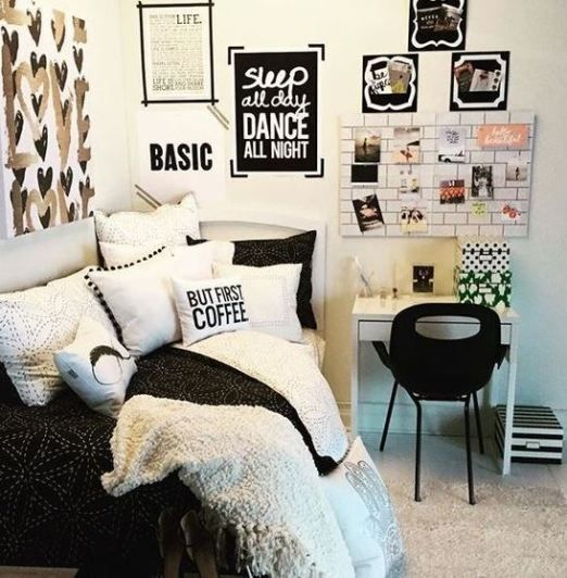 black and white done right, graphic patterns and cool textiles