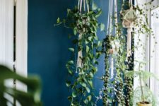 11 create some hangers to leave the window sill free