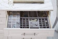 11 if you have a lot of jewelry, choose drawers for storage not to lose anything and to keep it in order