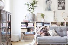 11 light-colored patterned fluffy rug helps to make this space very inviting