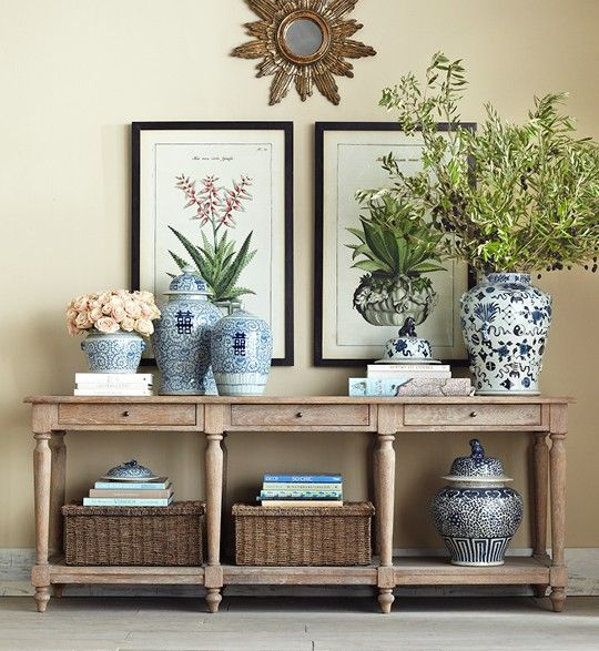 34 stylish console tables for your entryway digsdigs Foyer console decorating ideas