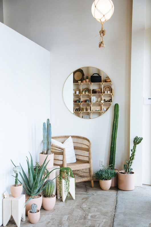 any nook is cozier and more inviting with potted greenery