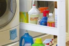 14 small pull-out vertical drawer for chemicals you need
