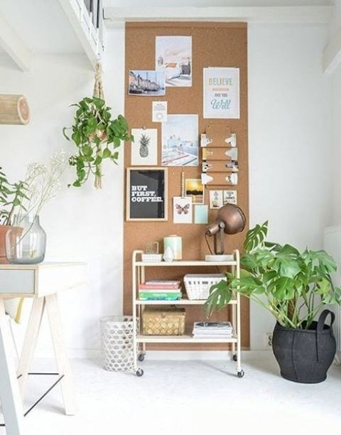 make a cork pinboard for your home office