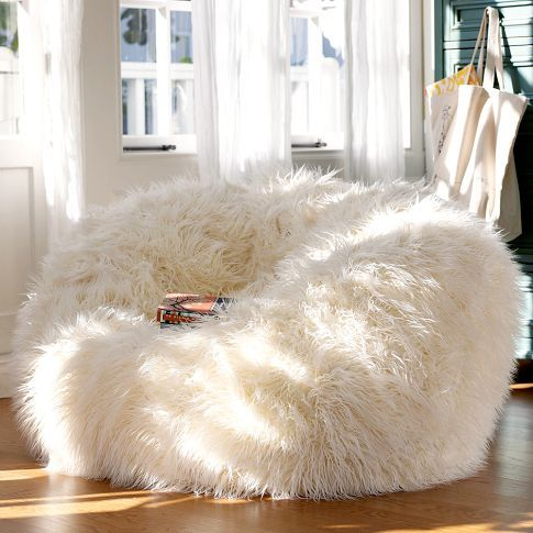 furry and cozy beanbag chair will be your best place in the winter