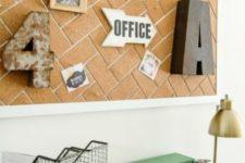 19 herringbone cork covered board for the office
