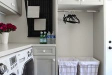 21 cabinets and wire baskets with fabric