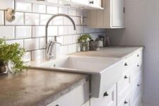 21 cozy traditional kitchen with a concrete countertop looks interesting