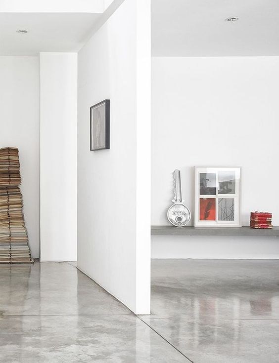 polished concrete floors are easy to maintain and won't accumulate dust
