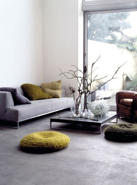 concrete floors are durable and look simple and modern
