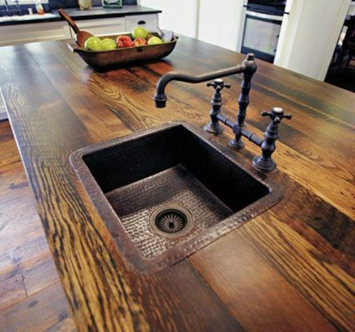Recycled Aluminum Countertops : Rustic countertops that add coziness to your home