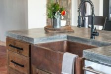 23 vintage rustic kitchen decor with a polished concrete countertop
