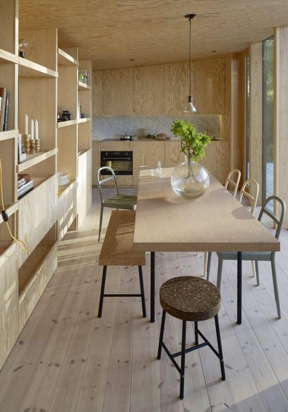 Sinnerlig dining set looks perfect in a light-colored wood kitchen