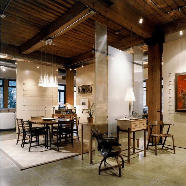 beams of various kinds can be also used for dividing the space visually