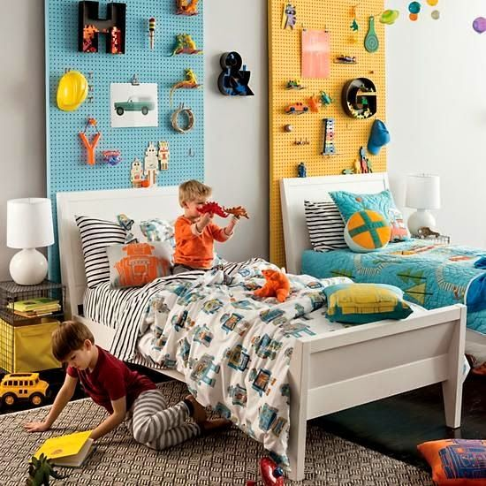 Colors For Kids Room: 32 Smart And Practical Pegboard Ideas For Your Home