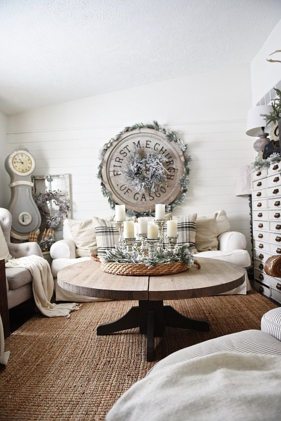 cozy whitewashed living room decor