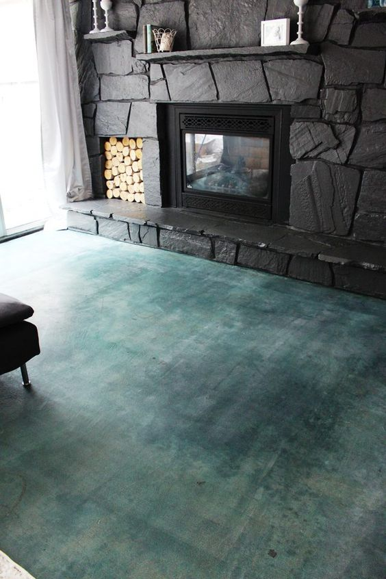 acid stained concrete floors for a chic colorful look