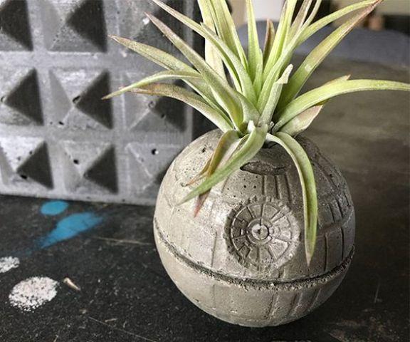 concrete Star Wars planter is a cool geek idea