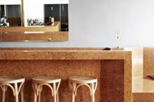 30 cork floors coming into cork countertops for a cozy kitchen
